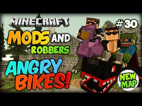 EXPLODING BIKES - Minecraft Modded Cops and Robbers w/ SkyDoesMinecraft (Animal Bikes Mod)