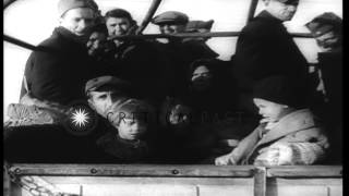 Newsreel 'Refugees from Yugoslavia find haven in Italy' HD Stock Footage