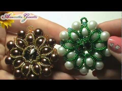 Tutorial  - Ciondolo a tutto perle - peyote
