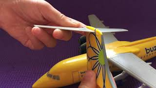 Finley likes ... Buzz airplane - Looks like Doctor Yellow