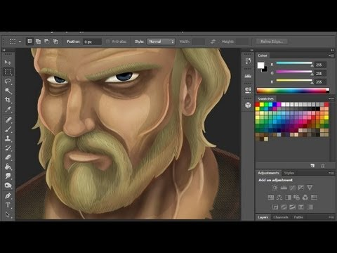 Painting in photoshop tutorial youtube for Draw with jazza mural