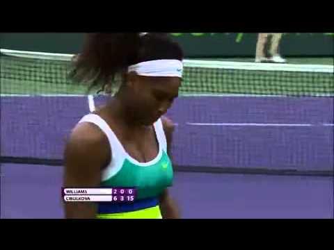 Serena Williams vs Dominika Cibulkova - Highlights - 4R - WTA Miami 2013