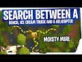 Search between a Bench, Ice Cream Truck and a Helicopter - FAST & EASY - Fortnite Season 4 Week 4