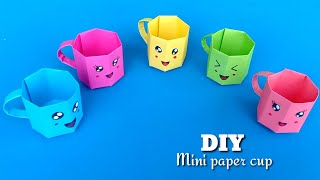 DIY MINI PAPER CUP / Paper Crafts For School / Paper Craft / Easy origami paper cup / Origami