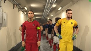 World Champions FRANCE vs Europe Champions PORTUGAL I PES 2018 Gameplay