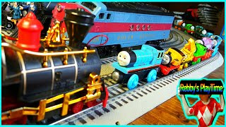 Toy Train Videos For Kids, Toddler, Baby.Thomas And Friends Accidents Will Happen. Rebby's PlayTime.