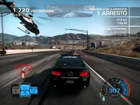 NFS Hot pursuit Police Chase Ford Shelby GT500