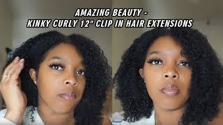 Kinky Curly 12 Inch Clip In Hair Extensions By India Larry /Amazing Beauty Hair Extensions