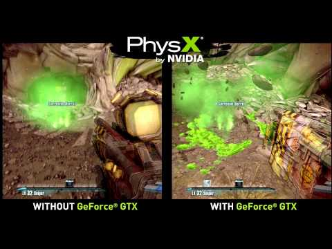 Borderlands 2 PhysX Comparision