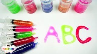 สไลม์ ABC | เพลง ABC | หัดเขียน A-Z | เรียนรู้สี | Learn Alphabet With Slime