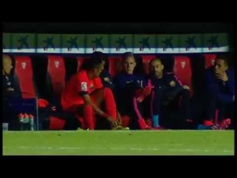 Neymar y su enfado al ser cambiado por Luis Enrique - Sevilla vs Barça