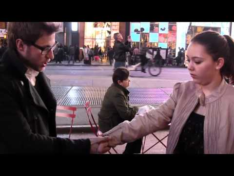Street Hypnosis - Handshake Girl Take Off Clothes