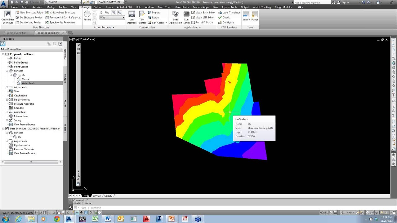how to create an alignment in civil 3d 2013