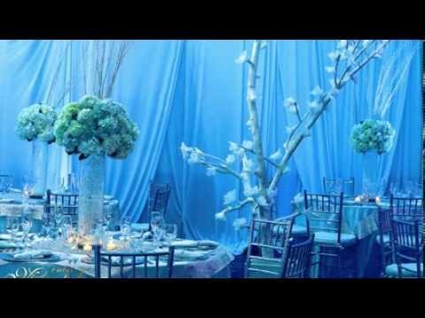 Fiestas tem ticas decoraci n tem tica invierno youtube - Cristales de colores para mesas ...