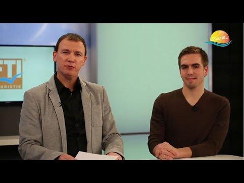 Philipp Lahm zu Gast bei FTI Touristik: über Urlaub und Reisen