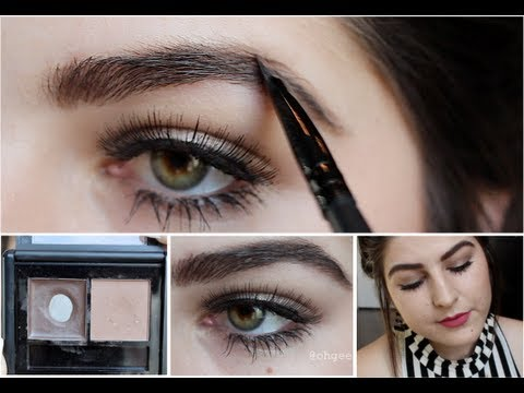 tutorial: elf eyebrow kit. ☠ easy full & defined eyebrows. ☠