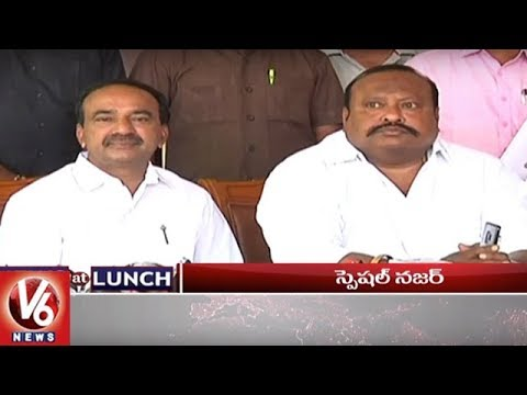 1 PM Headlines | Minister Etela On Fake Seeds | Mahakali Bonalu | Congress Leaders Protest | V6 News