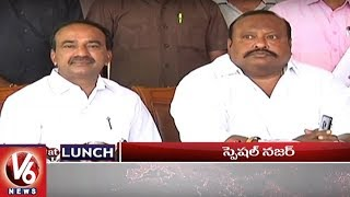 1 PM Headlines | Minister Etela On Fake Seeds | Mahakali Bonalu | Congress Leaders Protest