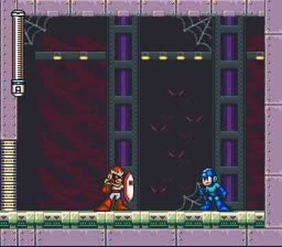 Mega Man 7, Buster Only Boss Fights - Protoman