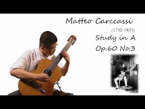 Matteo Carcassi - Study in A Op.60 No. 3