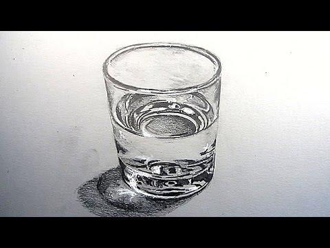 Рисунок стеклянного стакана