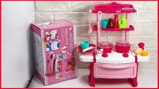 Đồ chơi nấu ăn cho bé 40 món hình Hello Kitty màu hồng xinh - Kitchen toys (Chim Xinh)