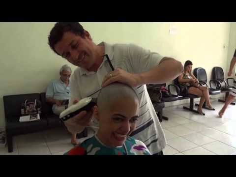 Video shaving women Headshave from long to bald HD