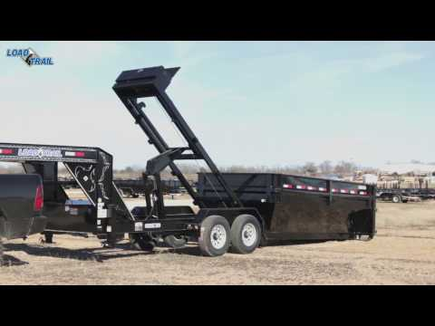 How to unload the box on a Drop-N-Go Roll Off Dump with Wireless Remote by Load Trail