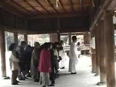 Shinto ritual in a shrine near Kyoto in 2006 Video