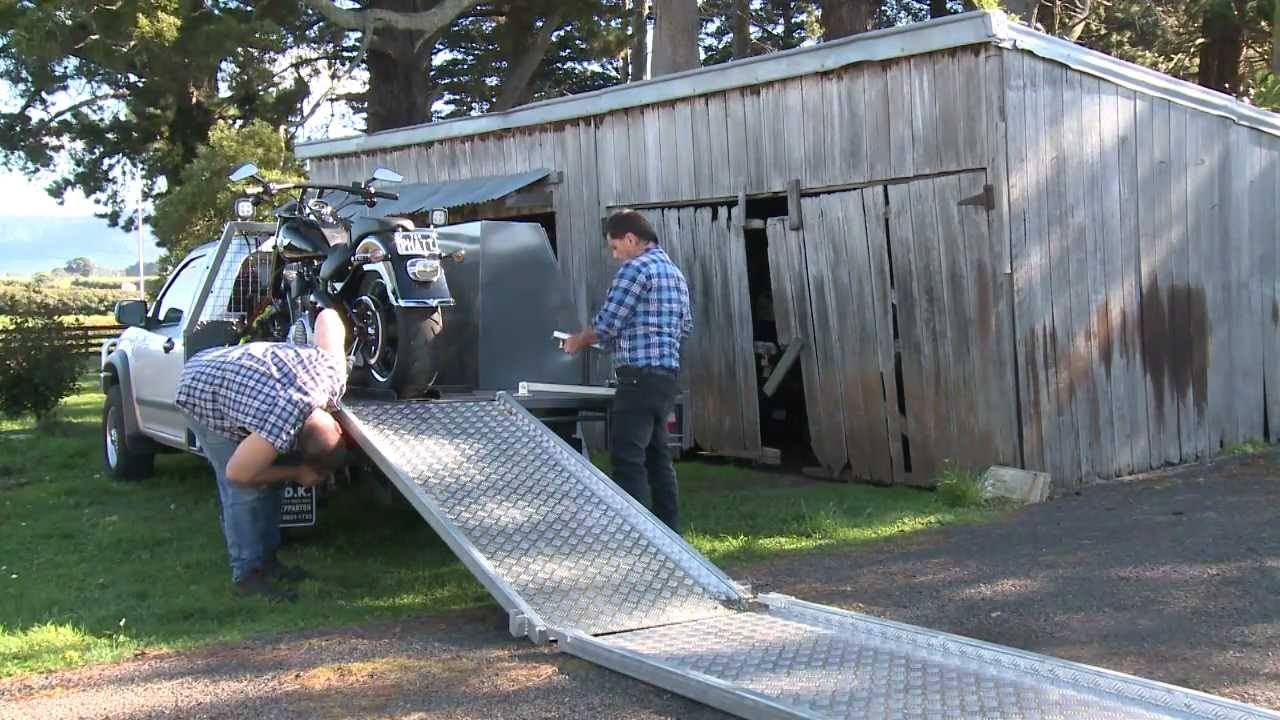 Motorcycle Loading Ramp Youtube