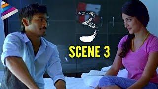 Dhanush and Shruti Haasan Intimate Scene   3 Movie Love Scenes   Anirudh   Telugu Filmnagar