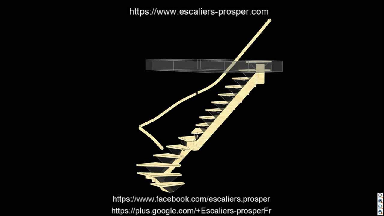 escalier 2 4 tournant m tiss e14 042 youtube. Black Bedroom Furniture Sets. Home Design Ideas
