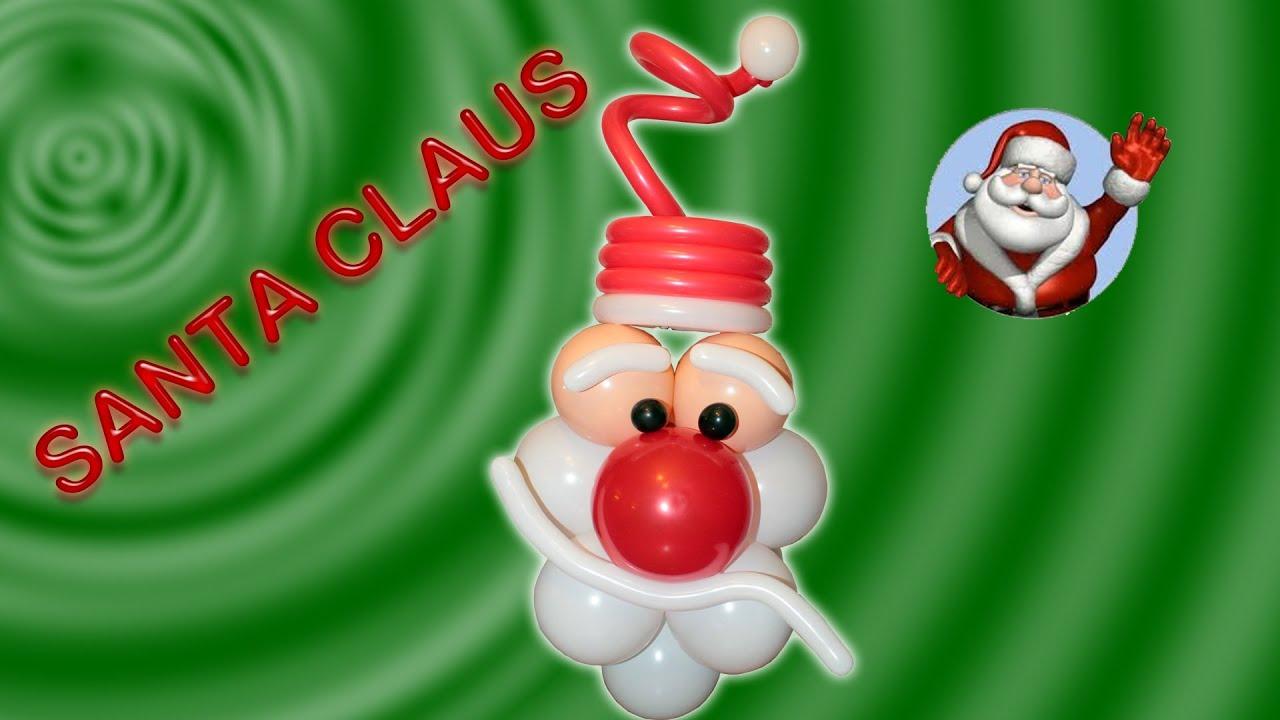 Decoraciones navide as santa claus en globos san nicolas - Decoracion de navidad con globos ...