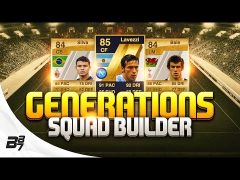 FIFA GENERATIONS PLAYABLE SQUAD BUILDER | SPURS BALE AND MILAN THIAGO SILVA!