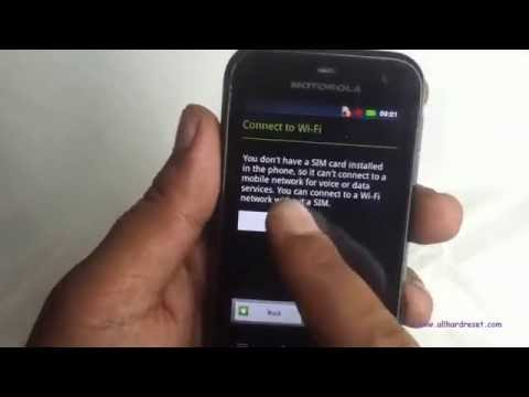 Motorola Defy mini XT320 hard reset