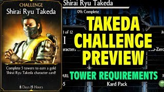 MKX Mobile 1.14 Update. Shirai Ryu Takeda Challenge Reuirements and BOSS Battle Preview.
