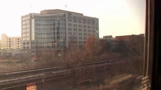 Riding Amtrak 29 from Washington, DC to Martinsburg, WV 2-21-2012