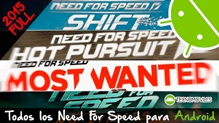 Los Mejores Need For Speed para Android 2015