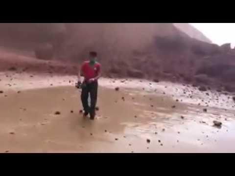 فيديو لحظة انهيار قوس الكزيرة العالمي بإقليم سيدي إفني