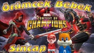 Örümcek Bebek ve Sincap Marvel Şampiyonlar Turnuvası Oynuyor Örümcek Bebeğin Oyunları