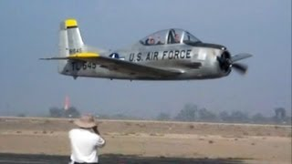 Full Scale T-28 Low Fly By 2007 Scale Masters Hemet, CA