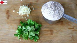 Do You Have A Cup Of Wheat Flour, Garlic & Coriander Leaves? Garlic Paratha Recipe - Ramadan Recipes