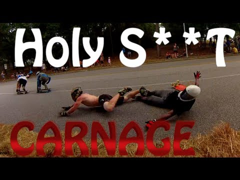 EPIC DownHill Longboard Race WORST Crash s Ever (Carnage On The Coast 2013)