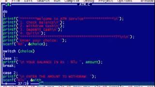 C Program to Display the ATM Transaction