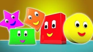 hình dạng bài hát   trẻ em bài hát   học hình dáng   bé Video   The Shapes Song   Shapes For Kids