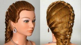 Прическа в школу с плетением.  Easy Back to School Hairstyles for Long Hair.  6:32.