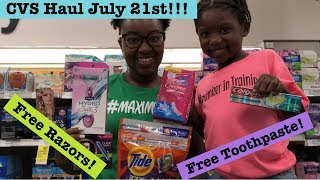 CVS Extreme Couponing Haul | July 21st| Tons of Free + Moneymaker & Cheap Deals!!!!