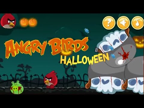 Angry Birds Halloween Adventure Walkthrough Gameplay #2 นกโกรธ 앵그리버드 할로윈 어드벤처 # 2