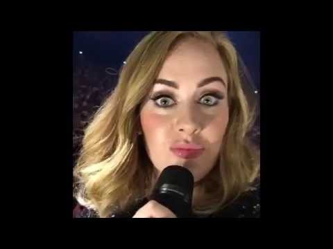Adele Live tour funny moments-part 4