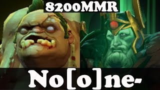 Dota 2 - No[o]ne- 8200 MMR Plays Pudge And Wraith King - Ranked Match Gameplay